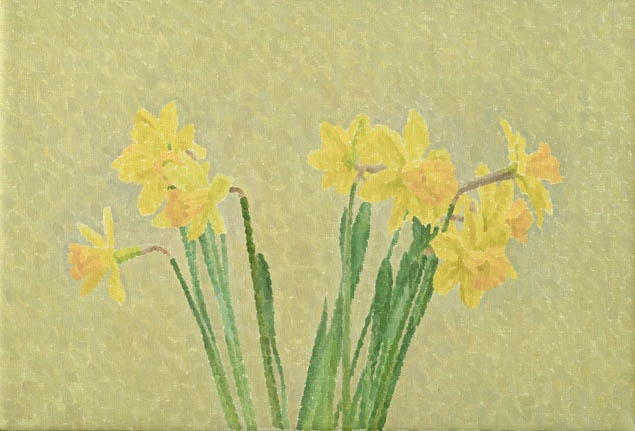 Daffodils, Cream Wall - William Wilkins