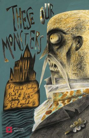 Dust Wrapper Artwork for 'These Our Monsters' - Clive Hicks-Jenkins