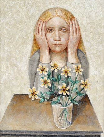 Girl with Flowers - Evelyn Williams