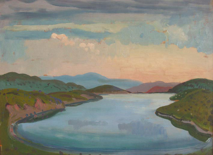 Lake and Mountains(Llyn Morwynion) - James Dickson Innes