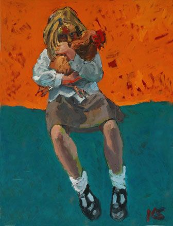 Chicken Cwtching after School - Kevin Sinnott