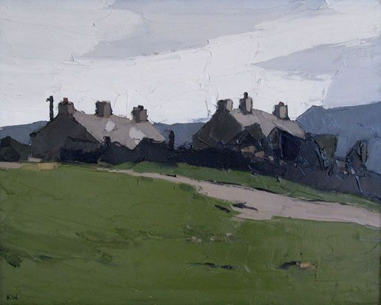 Cottages at Llanddona - Kyffin Williams
