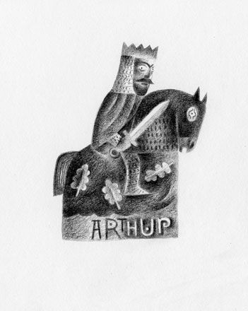 King Arthur - English Heritage - Clive Hicks-Jenkins