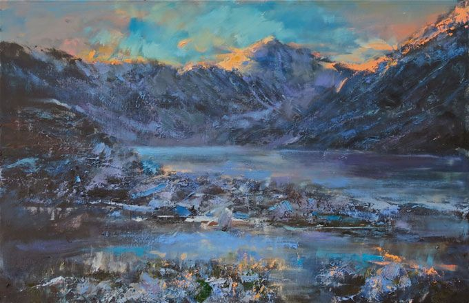 Snowdon, Winter Afternoon - Martin Collins