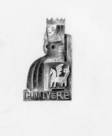 Queen Guinevere - English Heritage - Clive Hicks-Jenkins