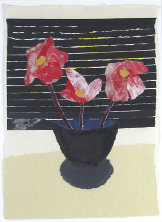 Venetian Blind and Flowers - Rosemary Burton