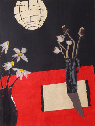 Paper Lantern and Flowers - Rosemary Burton