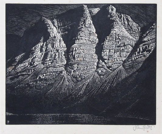 The Three Crags - John Petts