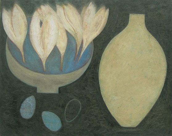 Crocus Bowl, Eggs and Flask - Vivienne Williams