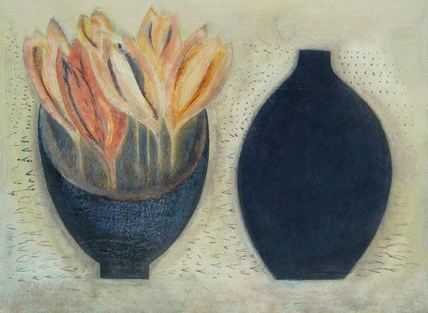 Crocus Bowl with Dark Pot - Vivienne Williams