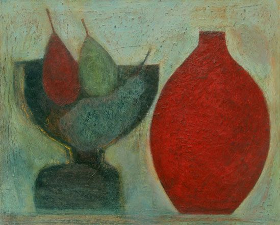 Pears, Grapes and Red Pot - Vivienne Williams