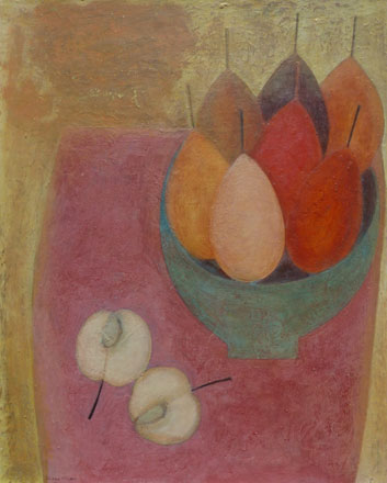 Pink Table with Apple and Pears - Vivienne Williams