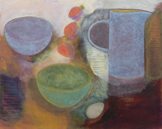 Still Life with Bowls and Strawberries - Vivienne Williams