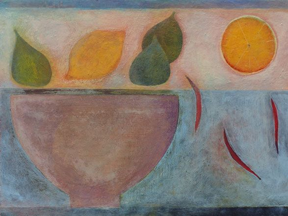 Still Life with Figs, Lemons and Chillies - Vivienne Williams