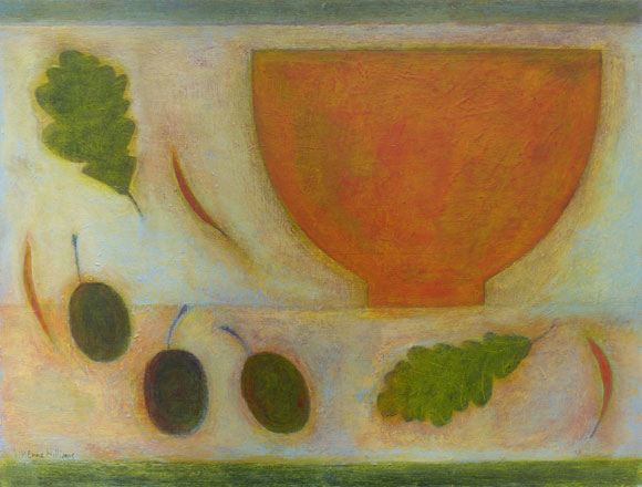 Still Life with Green Oak Leaves - Vivienne Williams
