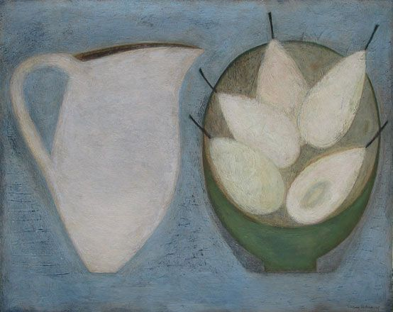Jug with Five White Pears - Vivienne Williams
