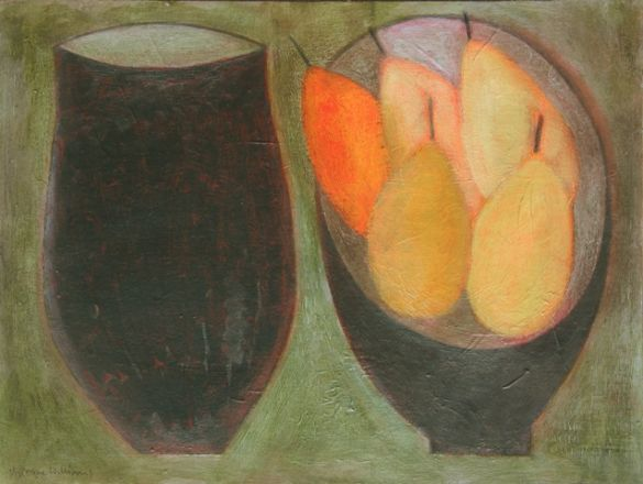 Dark Jar with Pears - Vivienne Williams