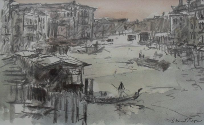 The Grand Canal from the Rialto - William Selwyn
