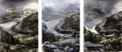 Rain and Light over Dolbadarn (Triptych) - Darren Hughes