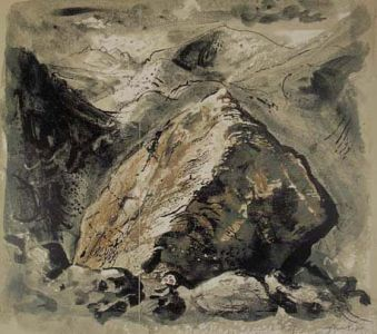 Stones and Bones V, Snowdonia - John Piper
