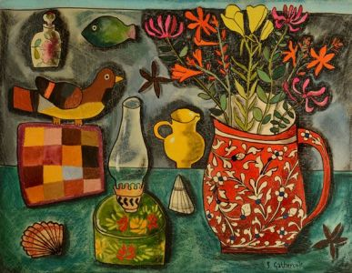 Still Life with Breton Patchwork - Susan Gathercole RCA
