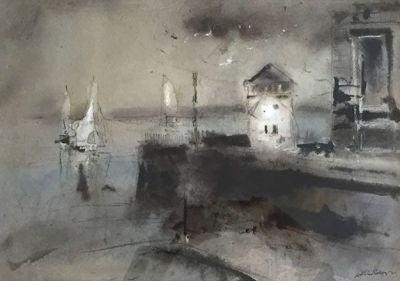 Yachts at Harbour Entrance - William Selwyn